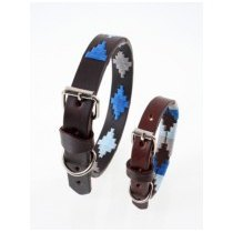 "Pampeano - Leather Dog Collar ""Cielo"""