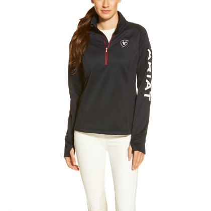 Ariat Women's Tek Team Quarter Zip Top - Navy
