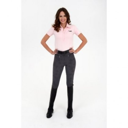 Rugged Horse Ladies Grey Patterned Breeches FL2