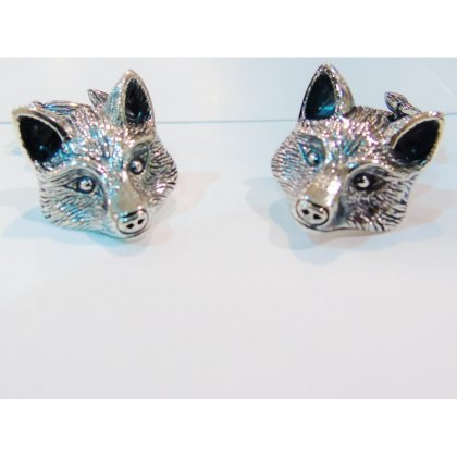 Charms UK Silver Fox Cufflinks