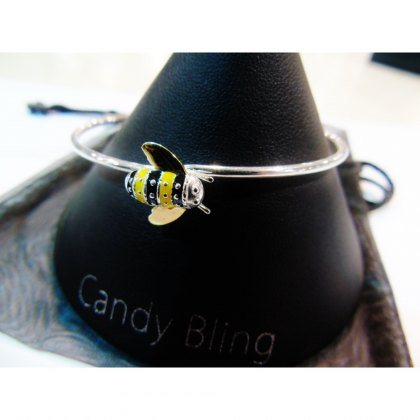 Charms UK Silver Bee Bangle