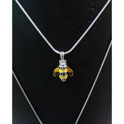 Charms UK Silver Bee Pendant And Chain