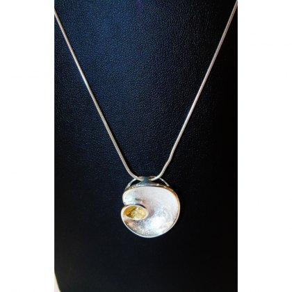 Charms UK Silver And Gp Shell Pendant And Chain