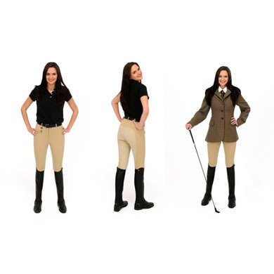 Rugged E1 Horse Ladies Beige Hunting Breeches
