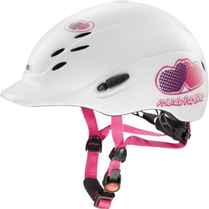 Uvex Onyxx Junior Riding Helmet Friends White