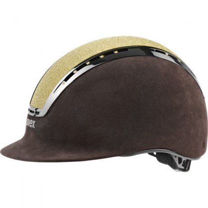 Uvex Suxxeed Glamour Riding Helmet Gold