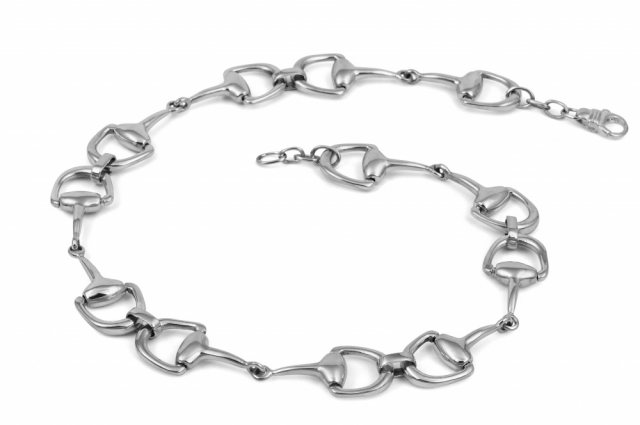 Charms UK Silver Snaffle Necklace