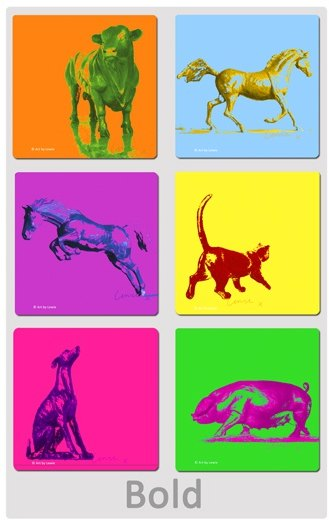 Art by Lewie Bold Print Coasters