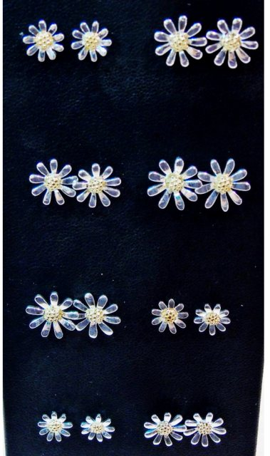 Charms UK Silver And Gp Daisy Earrings