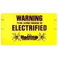 Hotline Electric Fence Warning Sign