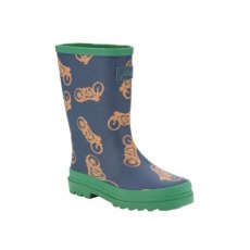 Joules Fun Boys Wellies (Motobike and Skeleton Print).