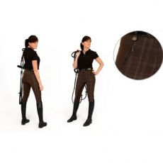 Rugged Horse Ladies Brown Check Breeches A4 SALE!!!