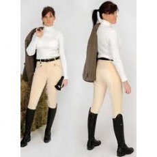Rugged Horse Ladies Off White Competition Breeches W2