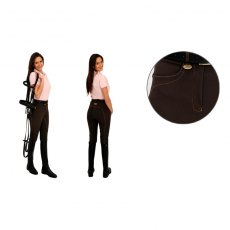 Rugged Horse Ladies Plain Coffee Brown Ladies Breeches K4