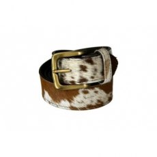 Pampeano Brown and White Cowhide Leather Belt