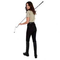 Rugged Horse Ladies Black / Blue Breeches JS3A