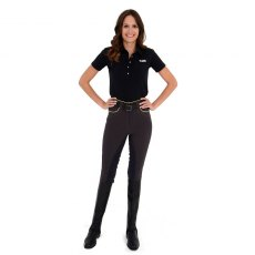 Rugged Horse Ladies Anthracite / Yellow Breeches JS5A