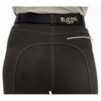 Rugged Horse Ladies Graphite Brown Coolmax Gel Seat Breeches GS2