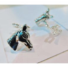Charms UK Silver Horse Cufflinks
