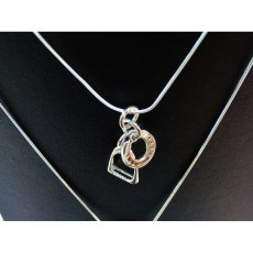 Charms UK Silver Horseshoe And Stirrup Pendant And Chain