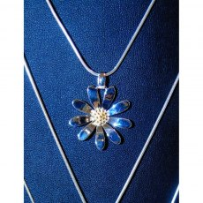 Charms UK Silver GP Large Daisy Pendant And Chain