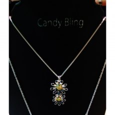 Charms UK Silver And Gp 2 Daisy Pendant And Chain