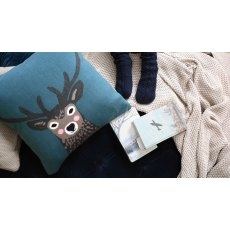 Sophie Allport Highland Stag Knitted Statement Cushion