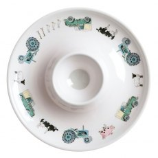 Sophie Allport On The Farm Children's Melamine Egg Cup Saucer