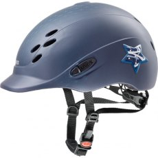 Uvex Onyxx Glamour Junior Riding Helmet Blue Mat