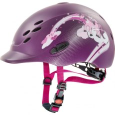 Uvex Onyxx Junior Riding Helmet Dekor Pony Berry