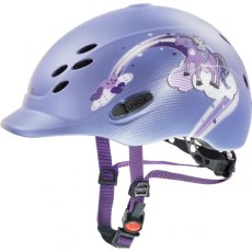 Uvex Onyxx Junior Riding Helmet Dekor Pony Violet