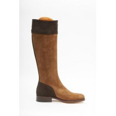 Spanish Riding Boots Suede: Camel/Brown Two Tone (leather sole)