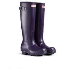Hunter Original Wellington Boots Aubergine