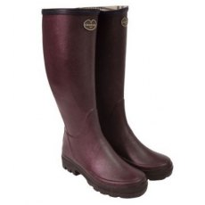 Le Chameau Women's Giverny Jersey Lined Boot Cherry