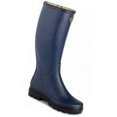 Le Chameau Women's Giverny Jersey Lined Boot Bleu Marine