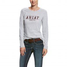 Ariat Logo Women's Tee Heather Grey