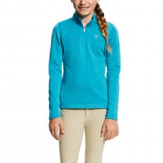 Ariat Kid's Conquest Half Zip Atomic Blue