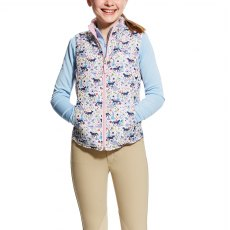 Ariat Kid's Emma Reversible Vest-Garden Pony Print