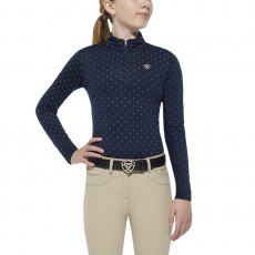 Ariat Kid's Sunstopper 1/4 Zip - Navy Dot