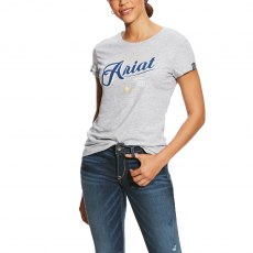 Ariat Women's Logo Tee - Heather Grey