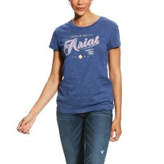Ariat Logo Women's T-Shirt - Indigo Fade