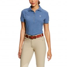 Ariat Women's Prix Polo-Indigo Fade Heather