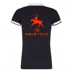 AB- Polo PoloShirt- Navy With Orange