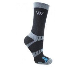 Woof Wear waffle knit bamboo short riding socks